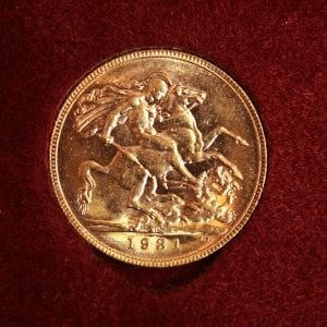 Collectable gold coin