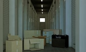 Modern self storage hall