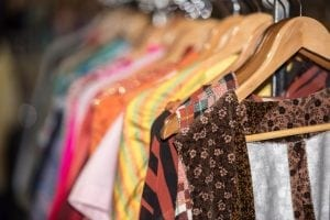 Vintage clothes on sales rack